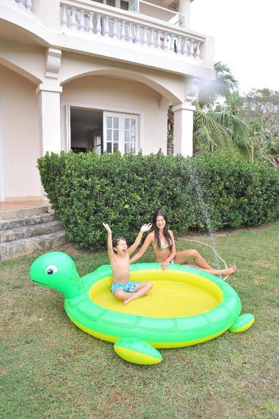 Jilong Kinderzwembad Spraypool Reuzenschildpad 214 x 189 cm