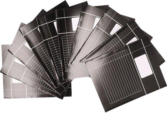 10x zwarte A5 lijntjes schriften pakket