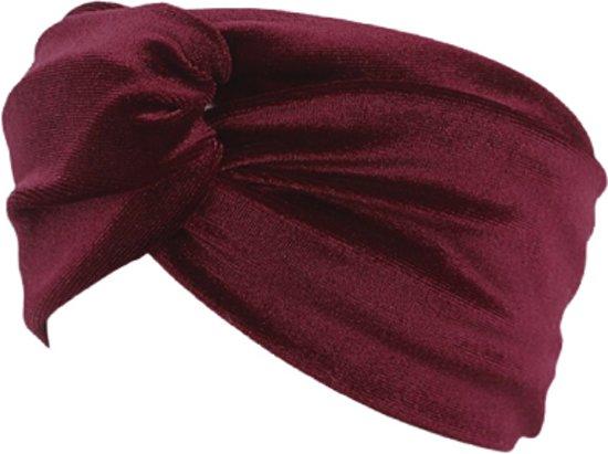 Velvet Fluweel Haarband - Rood