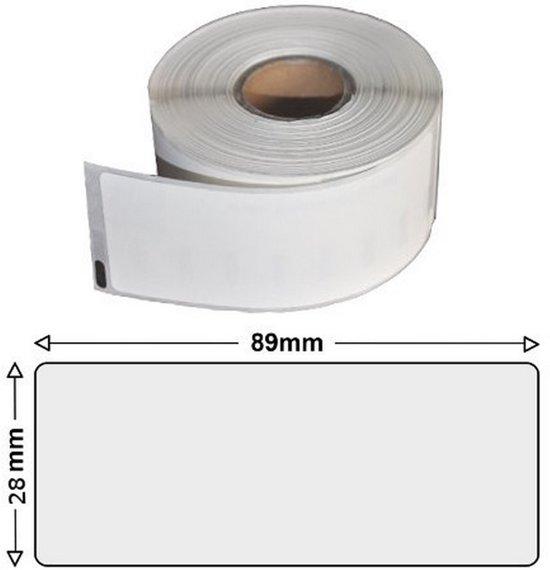 Etiket label voor Dymo labelwriter 450 TURBO |  wit | huismerk