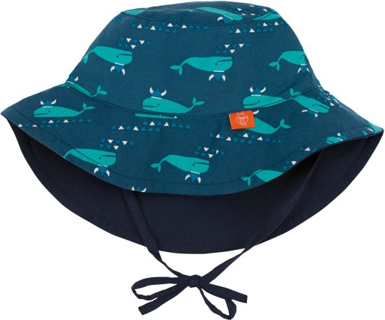 Lässig UV Zonnehoedje Kinderen Blue Whale - Blauw - maat 0-6M (38-43CM)