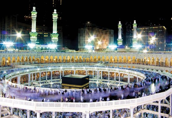 Fotobehang Mecca   XXXL - 416cm x 254cm   130g/m2 Vlies