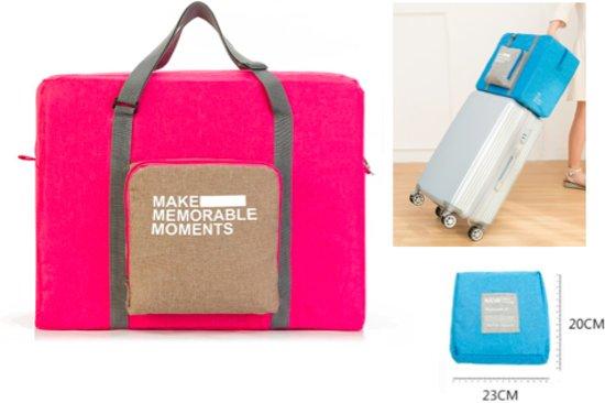 bb7f1d28dbe Opvouwbare reis tas duffel roze - Travel bag - Grote reis organizer -  folding reistas opvouwbaar