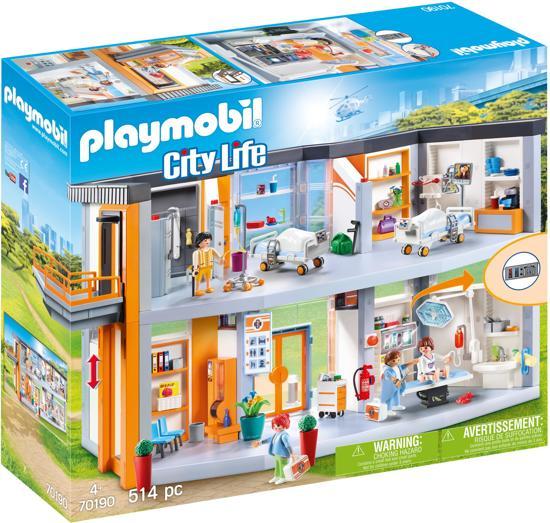 Afbeelding van PLAYMOBIL  Groot ziekenhuis met inrichting - 70190 speelgoed