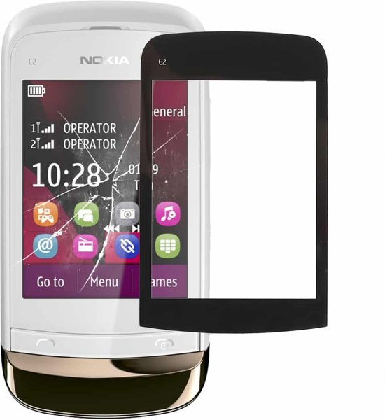 Let op type!! Touch Panel for Nokia C2(Black)