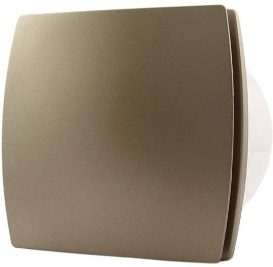 bol.com | Badkamer ventilator 100 mm GOUD met TIMER en VOCHTSENSOR ...