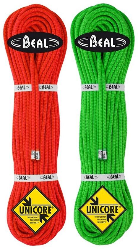 Beal Gully 7.3 Unicore Ultralicht dubbel- en tweelingtouw 50 Meter Groen