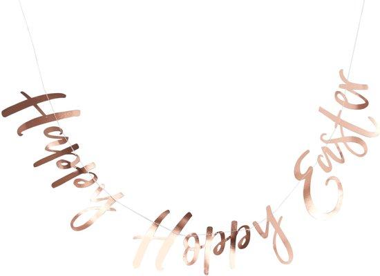 Ginger Ray 'Happy Hoppy Easter' slinger - rosé goud - 1,50 meter Valentinaa