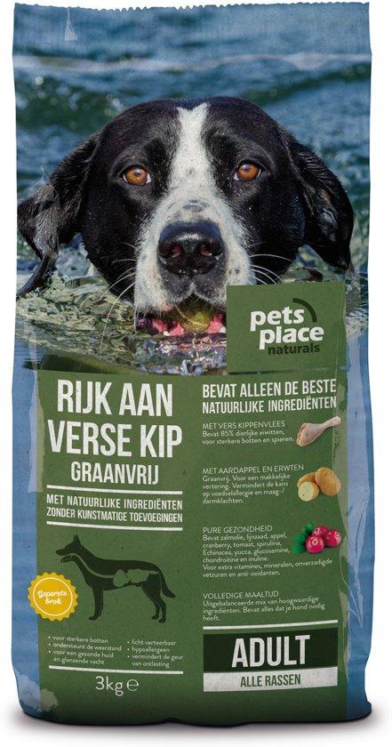 Pets Place Naturals Adult Graanvrij - Hondenvoer - Kip&Aardappel - 3 kg
