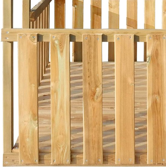 vidaXL Buitenspeelhuis 122,5x160x163 cm FSC grenenhout