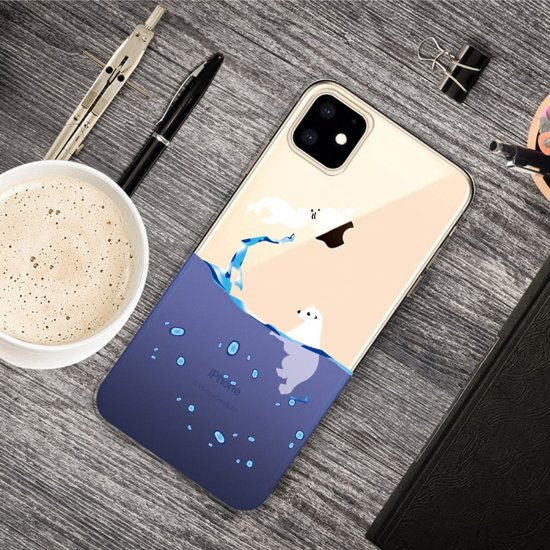 iPhone 11 (6,1 inch) - hoes, cover, case - TPU - Zeehond