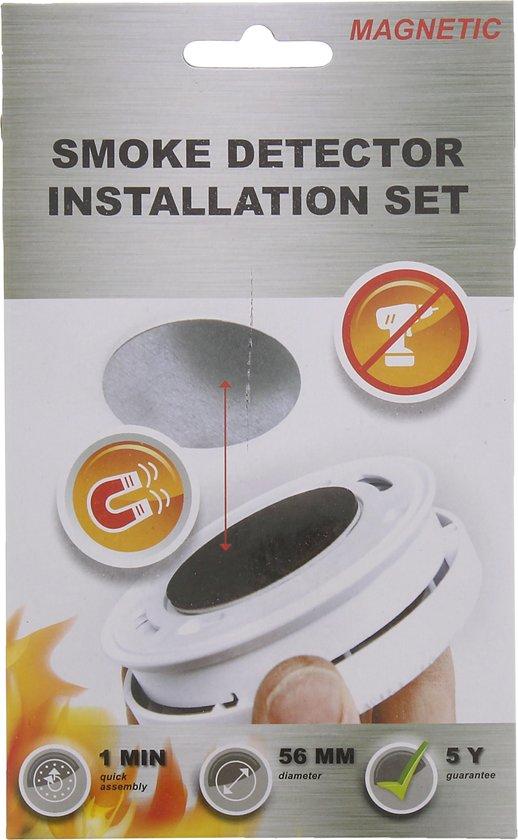 Rookmelder magneet Montagekit / 5jaar garantie