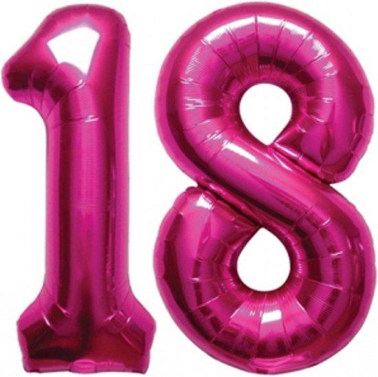 18 jaar ballon bol.| 18 jaar folie ballonnen roze, Fun & Feest Party Gadgets  18 jaar ballon