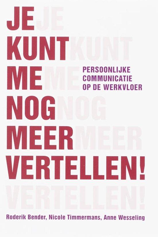 Cover van het boek 'Je kunt me nog meer vertellen'
