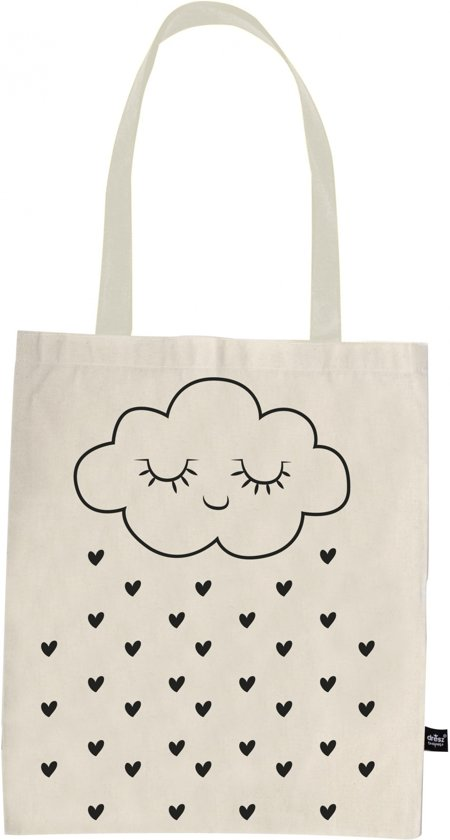 8c60423e3fb bol.com | Dresz - Shopper Cloud - Katoenen tasje - 36 x 44 cm