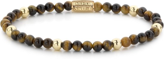 Rebel&Rose armband - Tiger Lily - 4mm - yellow gold plated