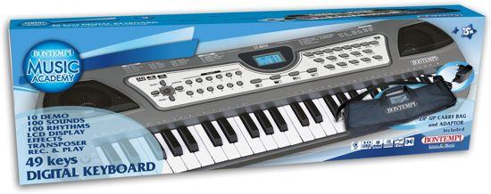 2aabfc628d9 Bontempi Luxe Keyboard met Tas, 49 toetsen Afmeting artikel: 58,8 x 20.  Afbeelding 1 van 3