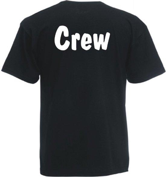 Mijncadeautje Unisex T-shirt zwart (maat L) Crew - tekst rugzijde