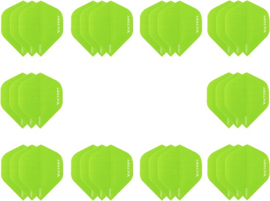 10 sets (30 stuks) Super Sterke Groene Poly XS100 - flights - dartflights