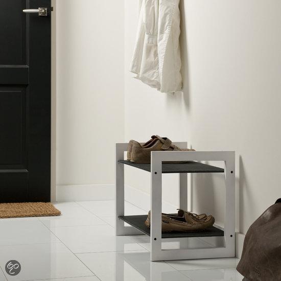 Schoenenkast In Stijl Design.Bol Com Duraline 2 Laags Schoenenkast Wit Hout