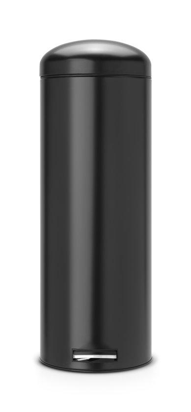 Brabantia Pedaalemmer 20l.Brabantia Retro Bin Silent Slimline Prullenbak 20 L Zwart