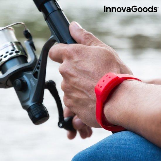 InnovaGoods Anti-Muggenarmband met Cintronella - Rood