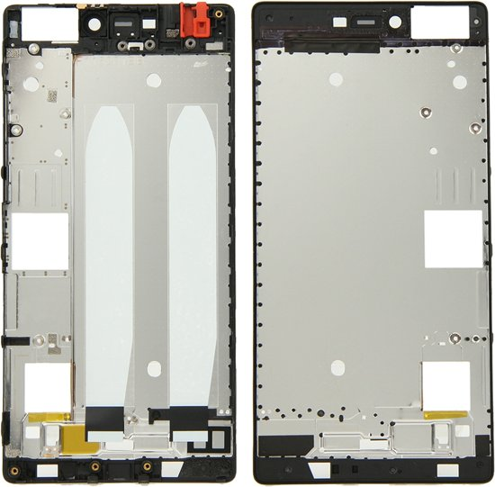 Let op type!! Huawei P8 Front Housing LCD Frame Bezel Plate(Black)