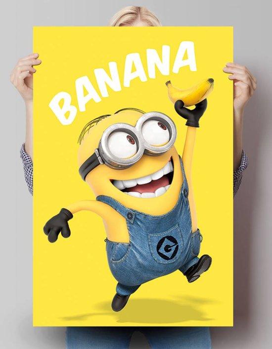 REINDERS Verschrikkelijke Ikke Minions banana - Poster - 61x91,5cm