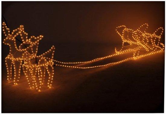 bol.com | Rendieren met Slee lichtslang 3D (756 Lampjes)Decorative ...