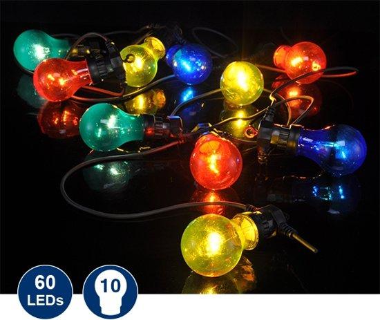 feestverlichting led 10 gekleurde lampen
