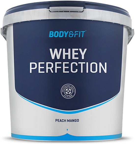 Body & Fit Whey Perfection - Eiwitpoeder / Eiwitshake - 4540 gram - Peach Mango Milkshake