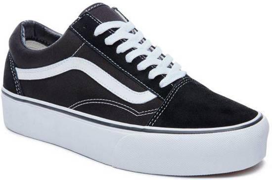 Vans Dames Old Sneakers Platform Maat Skool Zwart 36 qFqr1d