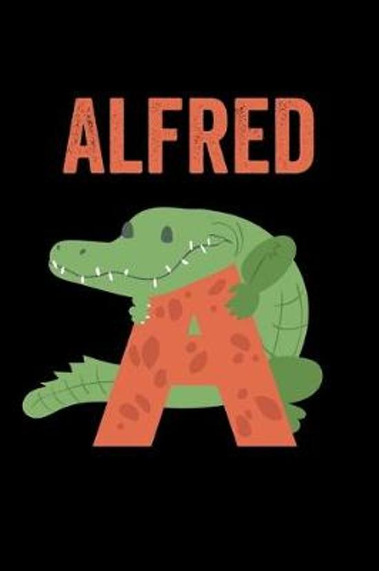 Alfred: Animals Coloring Book for Kids, Weekly Planner, and Lined Journal Animal Coloring Pages. Personalized Custom Name Init