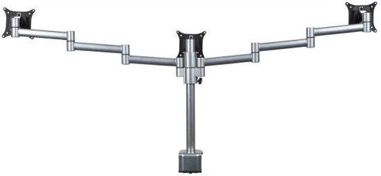 Filex 809107 Skylon monitorarm 2.0 voor 3 schermen [3x 24 inch max, 410mm, Zilver]