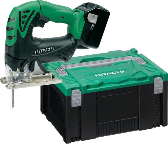 Hitachi CJ18DSL(WP) 18V Li-Ion Accu decoupeerzaag set (2x 5.0Ah accu + lader + container) - D-greep - variabel