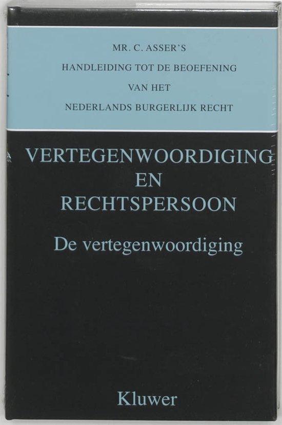 Asser serie 2 Mr C Asser handleiding tot de beoefening van het Nederlands burgerlijk recht De vertegnwoordiging