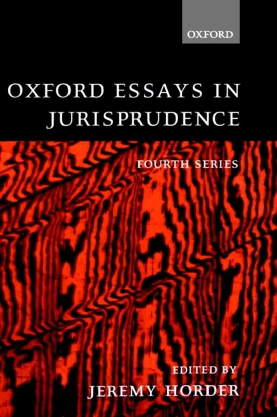 oxford essays in jurisprudence first series This important collection of essays includes professor hart's first defense of legal positivism his discussion of the distinctive teaching of american and scandinavian jurisprudence an examination of theories of basic human rights and the notion of social solidarity, and essays on jhering.