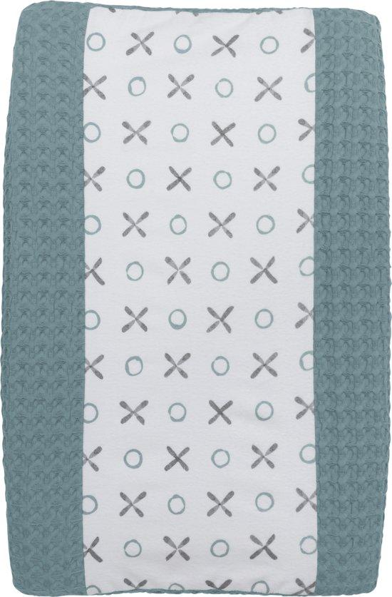 Meyco Silverline XO aankleedkussenhoes - Stone green/grijs