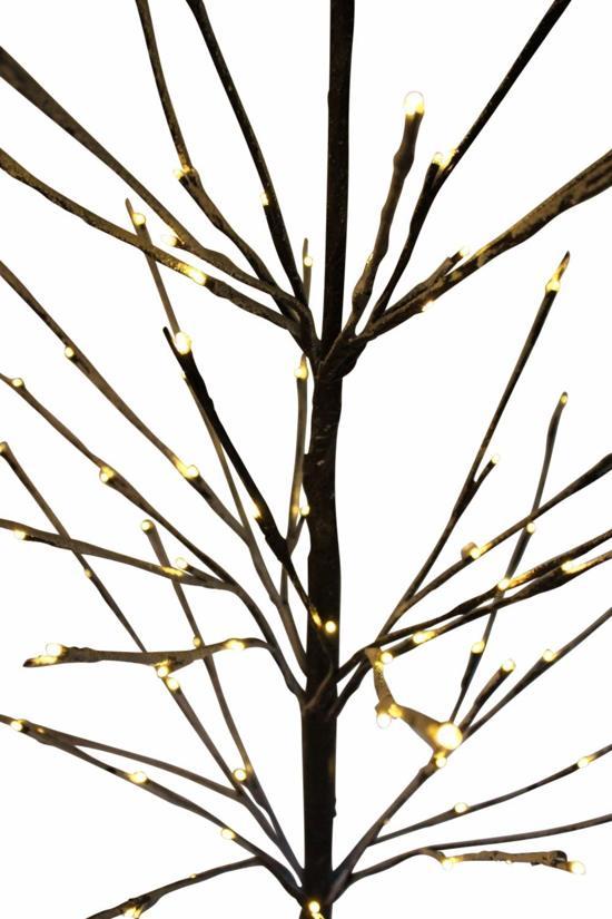 verlichting kunstboom lichttakken berkentwijg met besneeuwde takken kerstboom 96 warm witte led lampjes 150