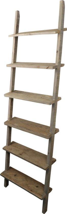 bol | houten ladder - decoratie - naturel - 58 x 14,50 x 168,50 cm