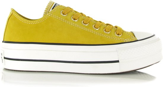 Converse Chuck Taylor AS Lift OX Gele Sneakers  Dames 41