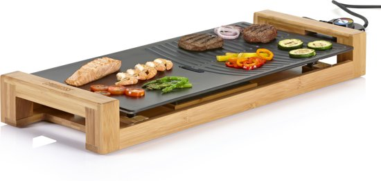 Princess 103025 Table Grill Pure Duo - Bak- en Grillplaat - 60x25 cm