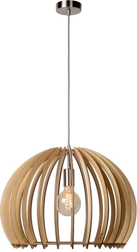 Lucide BOUNDE - Hanglamp - Ø 50 cm - Licht hout