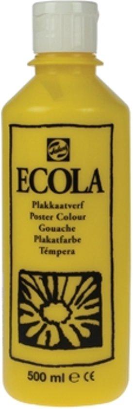 Plakkaatverf Ecola flacon van 500 ml, geel