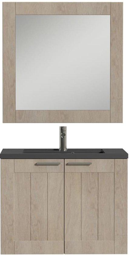 bol.com | Tiger Badkamer meubelset Frames 80 cm eikenhout zwart ...