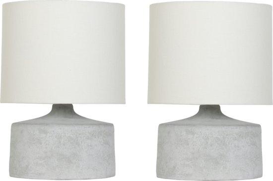 Super bol.com | Betonnen tafellamp - 35 CM hoog - 2 stuks - Industriële @IS72