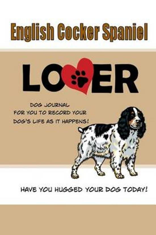 English Cocker Spaniel Lover Dog Journal