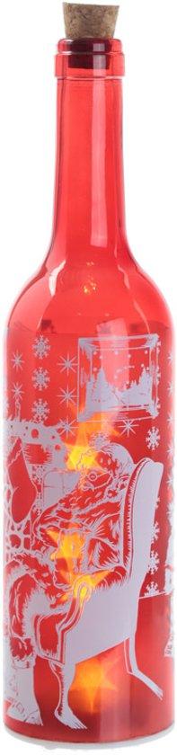 Fles met led verlichting Kerstman Valentinaa
