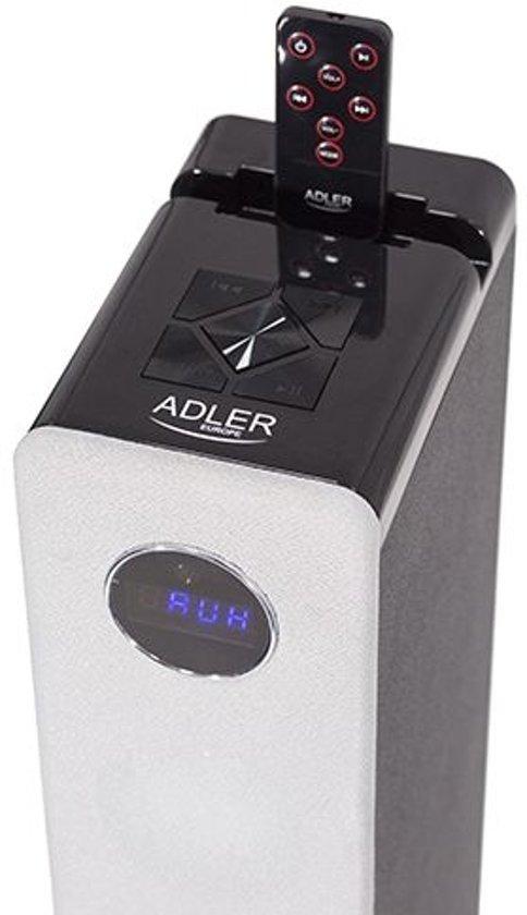 Adler AD 1162s - HiFi toren - 40W - zilvergrijs