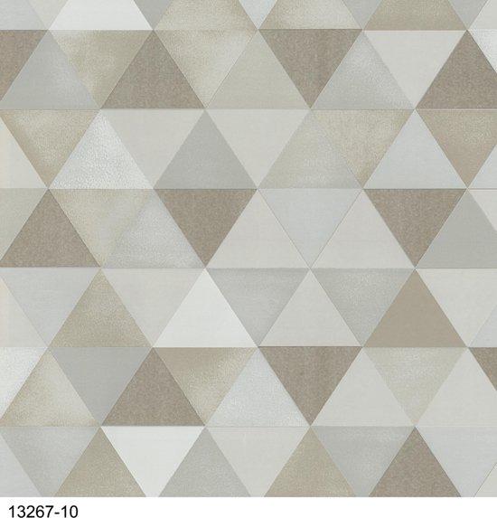 Dutch Wallcoverings Vliesbehang ruit - creme/beige